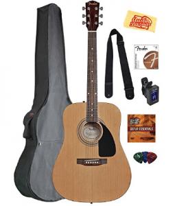 Fender Acoustic Guitar Bundle with Gig Bag, Acoustic Guitar for Kids