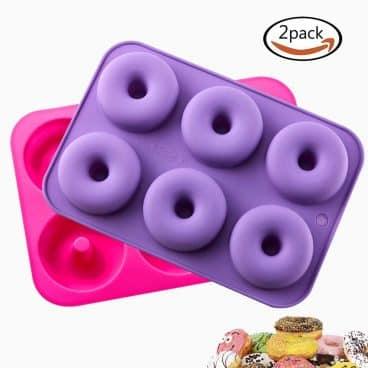 KLEMOO 2-Pack Donut Baking Pan