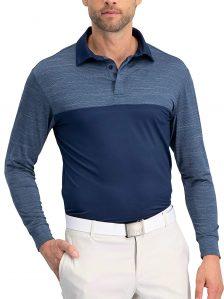 Three Sixty Six Long Sleeve Polo Shirts for Men