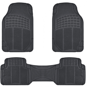 BDK Front and Back ProLiner Heavy Duty Rubber Floor Mats for Auto