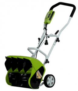 GreenWorks 26022 10 Amp 16-Inch Corded Snow Shovel - Electric Snow Shovel with Wheels