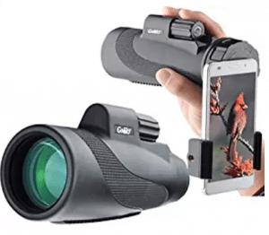 Gosky Titan 12X50 High Power Prism Monocular and Quick Smartphone Adapter, Waterproof Monoculars