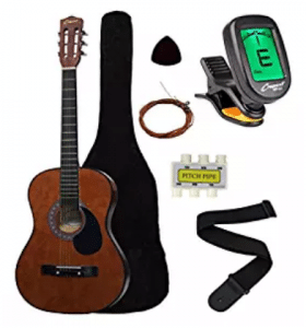 """Crescent MG38-CF 38"""" Acoustic Guitar Starter Package, Acoustic Guitar for Kids"""