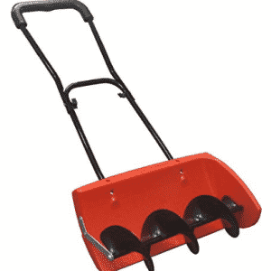 EasyGoProducts Snow Screw, Auger Style Manual Snow Blower, Snow Plo- Electric Snow Shovel with Wheels