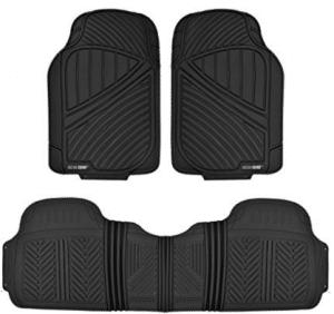Motor Trend FlexTough Baseline - Heavy Duty Rubber Car Floor Mats