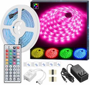 2. MINGER 16.4ft RGB LED Strip Lights