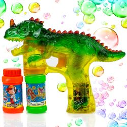 Toysery Dinosaur Bubble Shooter Gun Light Up Bubbles Blower