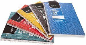 8. AmazonBasics 5-Subject Notebooks