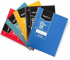 9. 5-Subject Notebooks By AmazonBasics