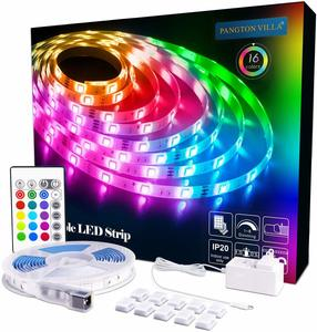 9. PANGTON VILLA 16.4ft LED Strip Lights