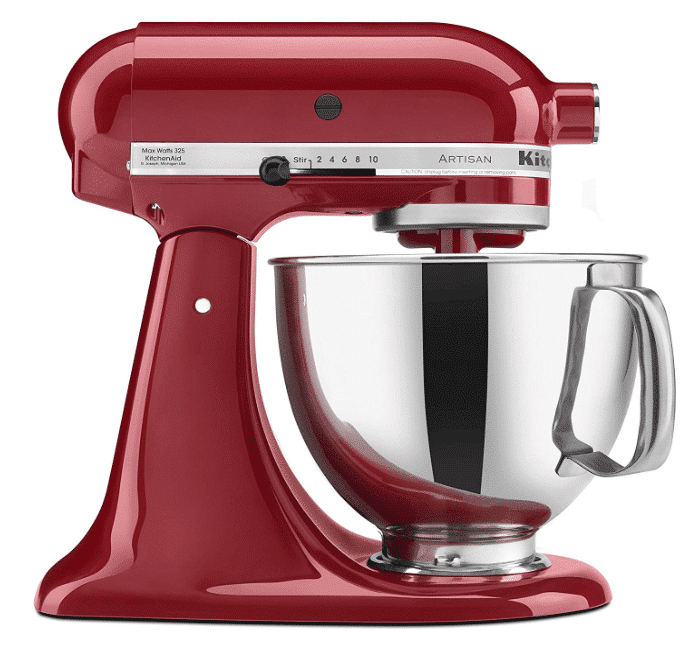 KitchenAid KSM150PSER Artisan Tilt-Head Stand Mixer with Pouring Shield