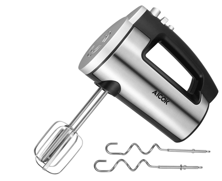 Aicok Hand Mixer 6 Speed Classic Stainless Steel Mixer