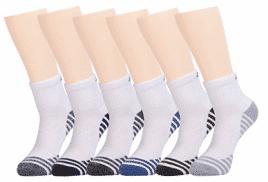 Joynée Men's Athletic Cushioned Quarter Ankle Socks Pack of 6 - Men's Ankle Socks