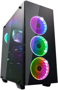 10. FSP ATX Mid Tower PC Computer Gaming Case with 3 Tempered Glass Panels