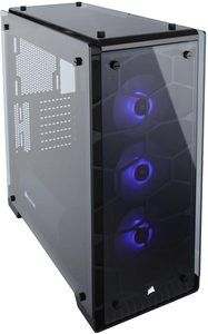4. Corsair Crystal 570X RGB Mid-Tower Case, 3 RGB Fans, Tempered Glass