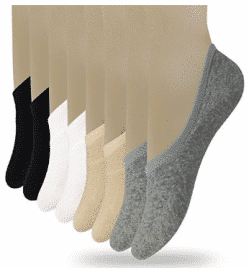 Eedor Women's 3 to 8 Pack Thin Casual No Show Socks Non Slip Flat Boat Line - Men's Ankle Socks