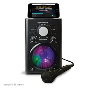 Singsation Karaoke Machine with Wireless Bluetooth Speaker