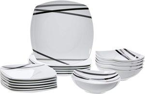6. asics 18-Piece Square Kitchen Dinnerware Set