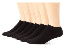 Hanes Men's No Show Socks (6-Pack)- Men's Ankle Socks