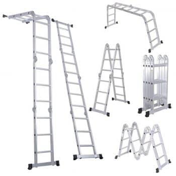 Luisladders Folding Ladder Multi-Purpose Aluminium Extension