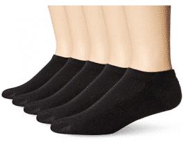 Hanes Men's 5-Pack Ultimate FreshIQ X-Temp No Show Socks, Men's Ankle Socks (Shoe Size 6-12)