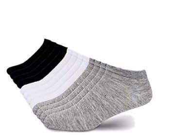 Men's 12 Pack Low Cut No Ankle Socks